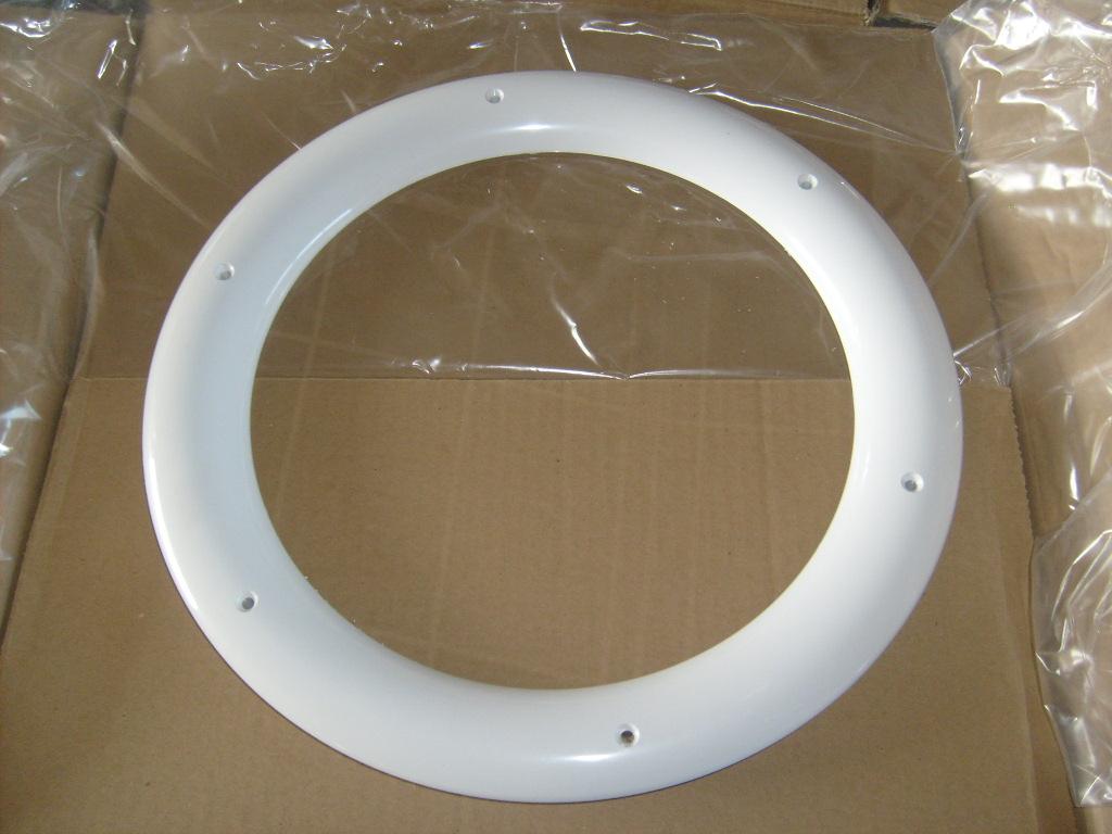Hublots rond blanc 1 vitre sabl e 1 transparente p for Porte interieure transparente