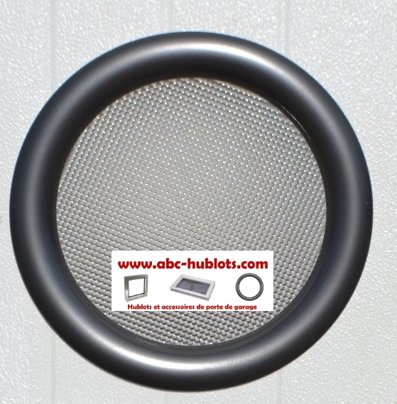 hublot rond 1 face anthracite 2 vitres opaques paisseur 24 mm. Black Bedroom Furniture Sets. Home Design Ideas