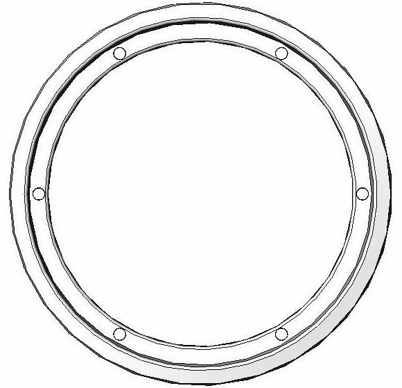 Hublot rond blanc ou noir 1 vitre porte de 22 24 mm - Hublot rond porte de garage ...