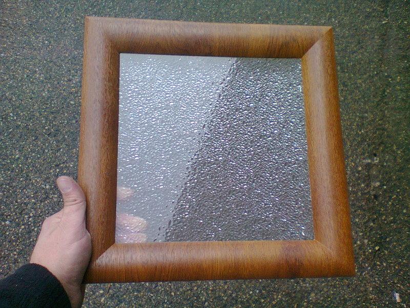 Hublot carr 1 face chene clair 1 vitre opaque p 24 mm for Rendre une vitre opaque