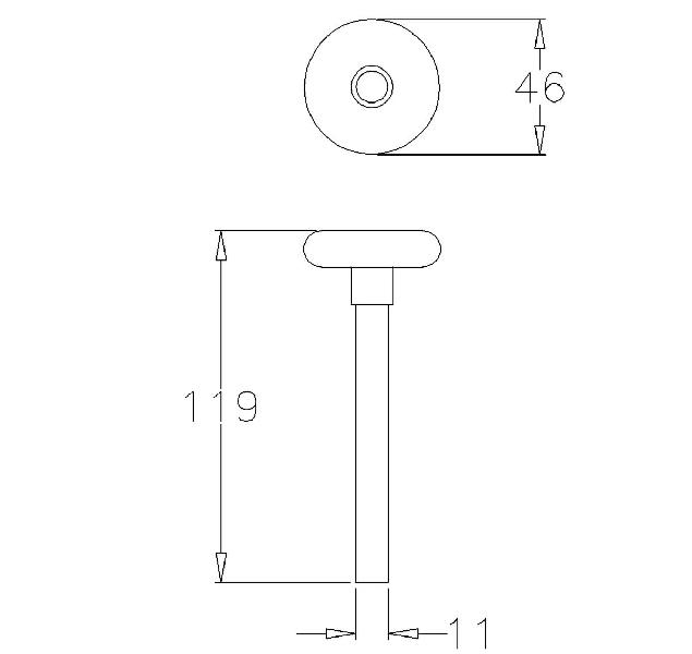 4 roulettes de porte sectionnelle nylon abc hublots. Black Bedroom Furniture Sets. Home Design Ideas