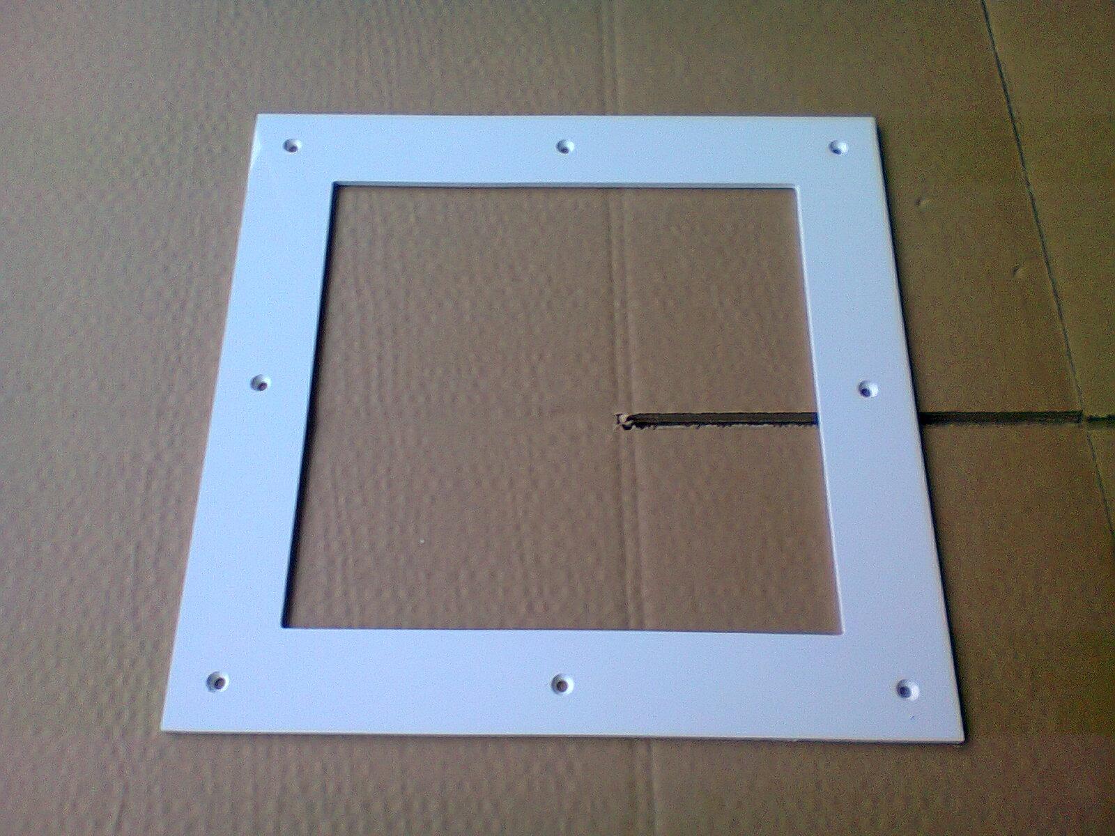 Hublot carr 1 vitre 1 face ch ne dor vitre granit e for Vitre pour porte interieure