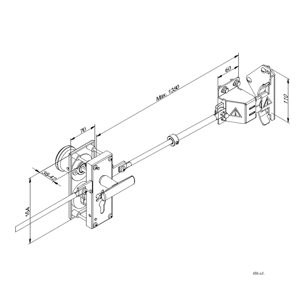 Serrure et poign e complete aluminium abc hublots - Poignee de porte de garage sectionnelle ...