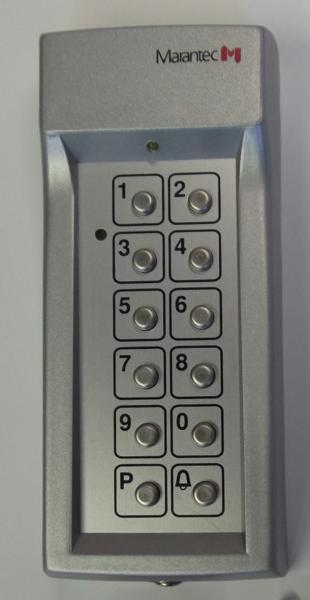 Digicode anti vandale 868 mhz abc hublots for Digicode sans fil pour porte de garage