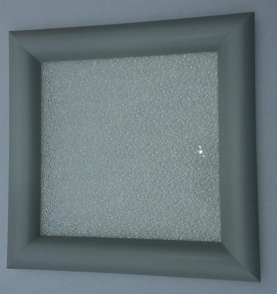 Hublot carr 1 face aluminium 1 vitre opaque p 24 mm for Rendre une vitre opaque