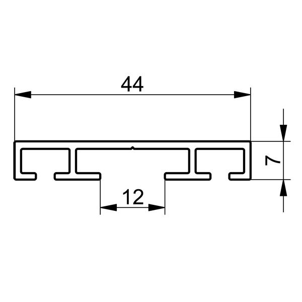 profil plat aluminium porte joint 44 x 7 mm 1 5 m abc hublots. Black Bedroom Furniture Sets. Home Design Ideas