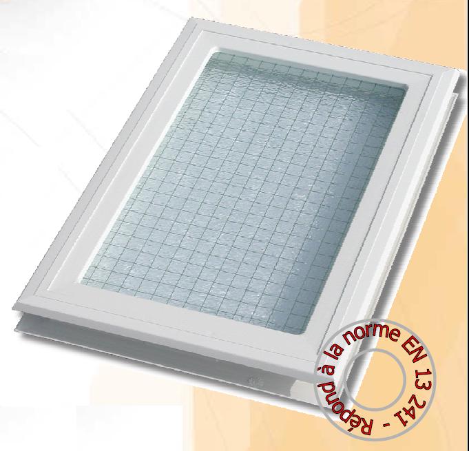 Hublotnoir rectangulaire vitrage verre feuillet pour garage - Verre double vitrage ...