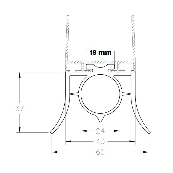 5 metres de joint bas 2 l vres pour porte de garage abc for Joint etancheite porte entree